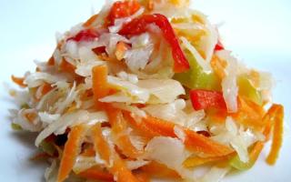 Салаты из капусты белокочанной на зиму рецепты