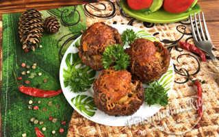 Картофельные бомбочки с мясом и сыром